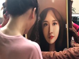 Hari Won ngỡ ngàng, không nhận ra mình trong bức tranh chân dung fan tặng