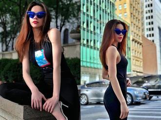 """Hồ Ngọc Hà tung loạt hình đẹp như siêu mẫu trên đường phố New York nhưng vẫn không thấy Kim Lý """"thả tim"""""""