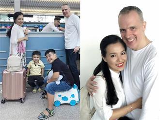 Lý Thanh Thảo cùng chồng Tây và hai con sang Hà Lan đăng ký kết hôn