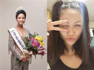 Bất ngờ với nhan sắc của Tân Hoa hậu Hoàn vũ Việt Nam - H'Hen Niê khi để mặt mộc