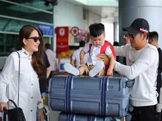 Ngọc Lan, Thanh Bình cùng con trai lên đường sang Hàn Quốc quay hình cho SBS