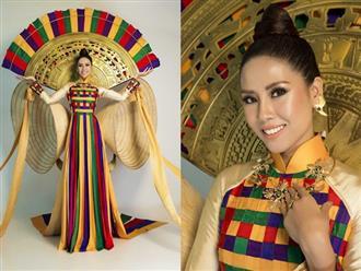 Nguyễn Thị Loan gây ấn tượng khi mang trang phục nón lá 'khủng' lên sân khấu Hoa hậu Hoàn Vũ 2017