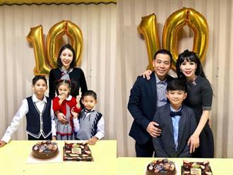 Hoa hậu Hà Kiều Anh và chồng đại gia tổ chức sinh nhật cho con trai