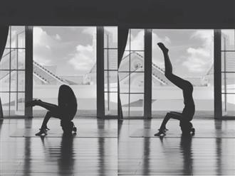 Tăng Thanh Hà được khen ngợi hết lời với tư thế tập yoga 'trồng cây chuối'