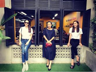 Tăng Thanh Hà bất ngờ xuất hiện bên cạnh Thùy Trang - bà xã Phạm Anh Khoa