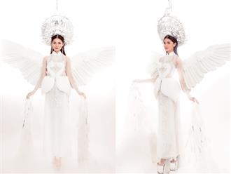 Thi Hoa hậu Quốc tế 2017, Thùy Dung diện trang phục dân tộc với hình ảnh con cò khiến nhiều người mê mẩn
