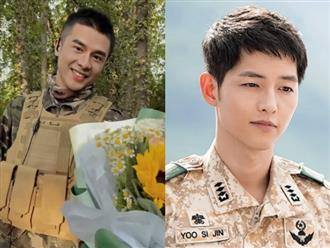 Đan Trường để tóc đầu đinh, mặc quân phục còn 'ngon lành' hơn hẳn 'đại uý' Song Joong Ki