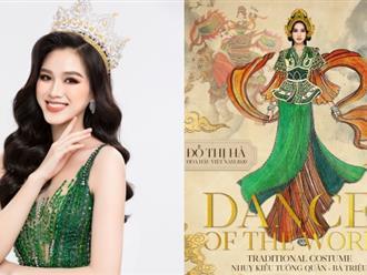 Hoa hậu Đỗ Hà gây ấn tượng mạnh khi mang hình ảnh nữ tướng Bà Triệu đến Miss World 2021