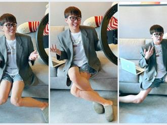 Duy Khánh khoe đôi chân dài 'mướt mát', thẳng tắp như siêu mẫu trong hậu trường quay show