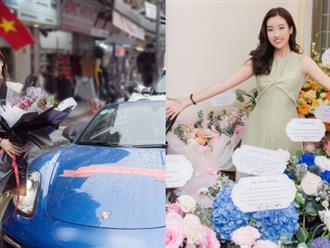 Đỗ Mỹ Linh đón sinh nhật đặc biệt ở tuổi 25 với siêu xe chở đầy hoa khiến ai cũng trầm trồ