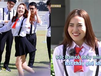 Thật không thể tin được, Lan Ngọc làm chủ tịch CLB âm nhạc của trường, lại còn hát hit của Bảo Thy