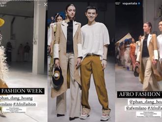 NTK trẻ Phan Đăng Hoàng được Vogue Italia chúc mừng trên tài khoản tạp chí