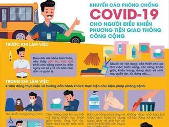 Bộ Y tế khuyến cáo phòng Covid-19 cho người điều khiển phương tiện giao thông công cộng