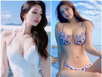 Hai hot girl Hàn Quốc cao 1m80 sở hữu đường cong 'nóng mắt' 3 vòng siêu chuẩn, cùng gương mặt tựa 'nữ thần'