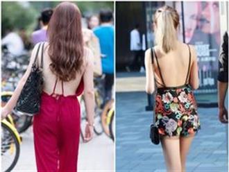 """Váy hở lưng thời thượng được nhiều """"bóng hồng"""" săn đón bỗng trở thành thảm họa thời trang đường phố"""
