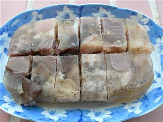 Chuẩn vị ký ức với cách làm thịt nấu đông theo truyền thống ngon hấp dẫn