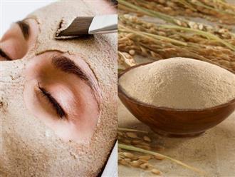 Học spa công thức làm kem trộn dưỡng trắng da mặt bằng cám gạo, là phụ nữ nhất định phải biết