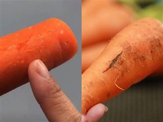 Thấy cà rốt có 4 dấu hiệu này dù rẻ đến mấy cũng đừng dại mua