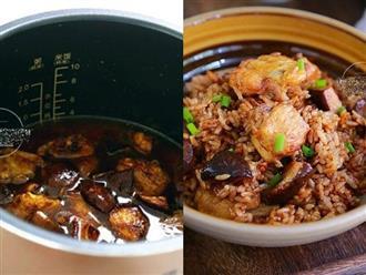 Đi làm về muộn, tôi cho cả gà lẫn gạo vào nồi cơm điện, 30 phút sau đã có món ăn cực phẩm