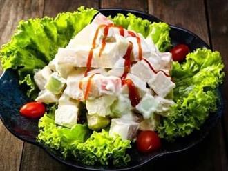 Cách làm salad rau củ quả vừa ngon vừa tốt cho sức khỏe, Tết chẳng sợ tăng cân!