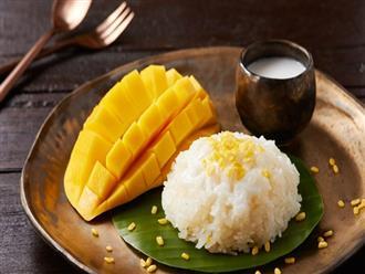 Tự làm món xôi xoài chuẩn vị Thái với công thức cực đơn giản, ngon không kém ngoài hàng