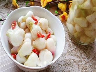 Bí quyết muối dưa hành ngon, món ăn không thể thiếu trong dịp Tết Nguyên đán