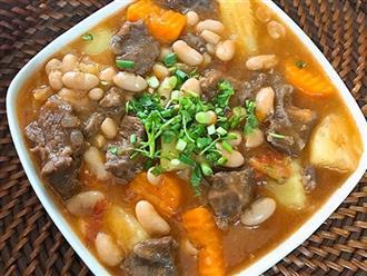 Học ngay món bò hầm đậu trắng, món ăn dinh dưỡng dành cho người ốm không phải ai cũng biết