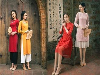 Những mẫu áo dài Tết hễ cứ mặc lên người là nhan sắc lại tăng thêm vài bậc, sành điệu chẳng kém ai