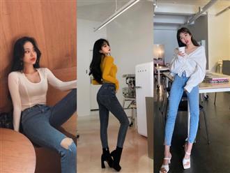 3 công thức phối đồ với quần jeans ôm giúp 'nấm lùn' kéo dài đôi chân, tôn dáng cực kỳ, đảm bảo 'không đẹp không ăn tiền'