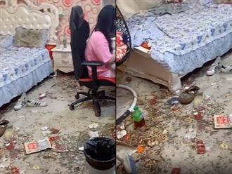 Phòng ngủ bẩn như bãi rác của hot girl mạng xã hội