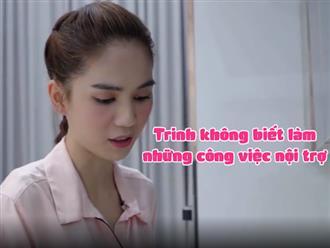 Bị anti chỉ trích 'hồi nhỏ nhà nghèo muốn chết mà không biết làm nội trợ', Ngọc Trinh đăng clip phản pháo