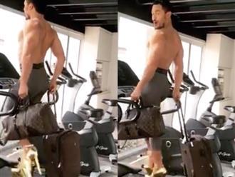 Học đòi chị em mang giàu cao gót đi trên máy chạy bộ, người đàn ông khiến dân mạng thán phục