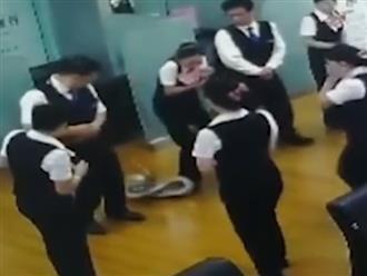 Đang họp thì trăn khủng rơi xuống đầu, nhân viên văn phòng chạy tán loạn