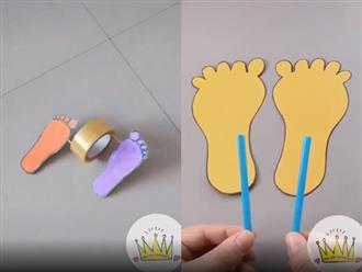Cha mẹ tự chế đồ chơi để chơi cùng con trong thời gian nghỉ dịch