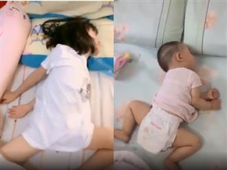 Loạt tư thế ngủ khó đỡ của trẻ nhỏ khiến ba mẹ cũng phải bó tay