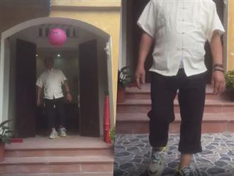 Ông ngoại mang giày độn cực 'ngầu' được dân mạng khen ngợi hết lời