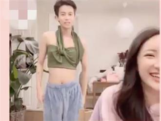 Thử thách mặc quần áo của bạn gái, nam thanh niên 'ngáo ngơ' khiến dân mạng cười bò