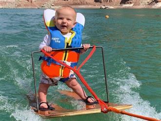 Bé trai 6 tuổi lướt trên mặt nước điệu nghệ khiến dân mạng tranh cãi, ba mẹ bị 'ném đá'