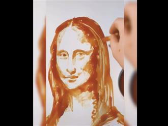Chán vẽ tranh bằng màu, chàng trai dùng tương cà tạo ra loạt tác phẩm 'đỉnh của đỉnh' khiến ai cũng ngưỡng mộ