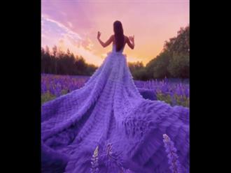 Dân mạng xuýt xoa với khoảnh khắc cô gái khoe sắc bên hoa: Xinh như tiên nữ ở chốn bồng lai