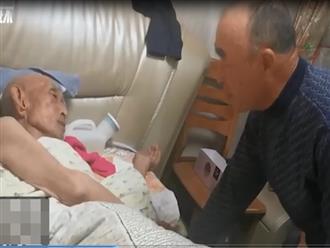 Nghẹn ngào cảnh con trai 70 tuổi khóc lóc xin lỗi vì bố 96 tuổi giận dỗi tuyệt thực suốt 3 ngày
