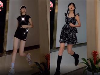 Mỹ nữ chỉ cách mix đồ nhưng tỷ lệ cơ thể cùng đôi chân dài miên man mới gây chú ý