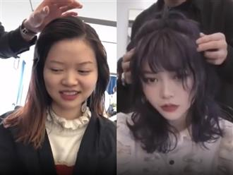 Nhờ 'phép biến hình' của thợ cắt tóc, các cô gái nhan sắc bình thường bỗng lột xác thành mỹ nữ vạn người mê