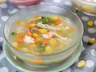 Mách mẹ 5 công thức nấu súp gà cho bé thơm ngon khó cưỡng