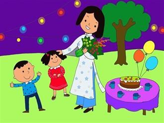 Bài thơ về thầy cô cho trẻ mầm non nhân Ngày nhà giáo Việt Nam