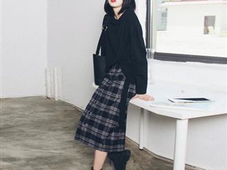 6 lưu ý cần biết để mix chân váy dài mùa đông thật thời trang