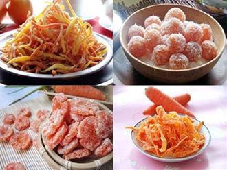 Học cách làm mứt cà rốt dẻo để đón Tết thêm vui