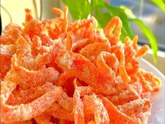 Cách làm mứt cà rốt truyền thống tại nhà
