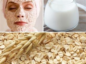 Làn da vừa trắng vừa mịn màng với mặt nạ yến mạch sữa chua