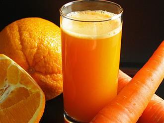 Uống nước ép cam cà rốt có tác dụng gì?